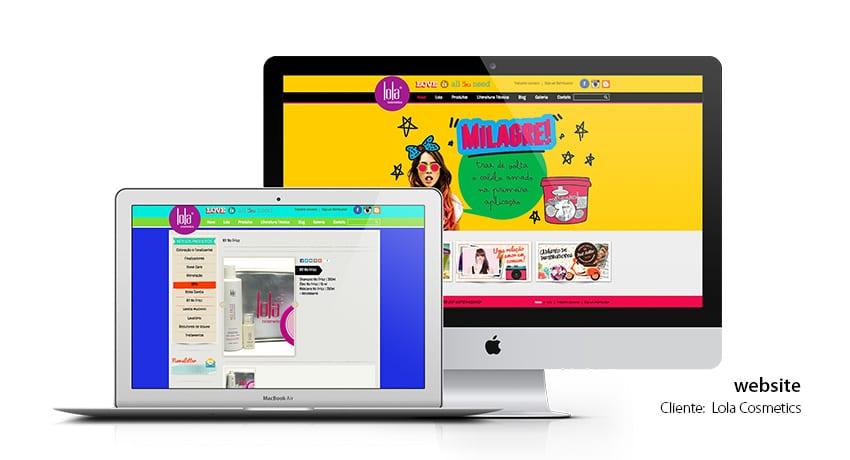 Lola Cosmetics - website gerenciável