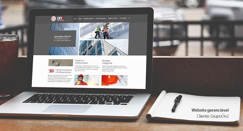 Website Grupoon2 e arquitetura da Informação